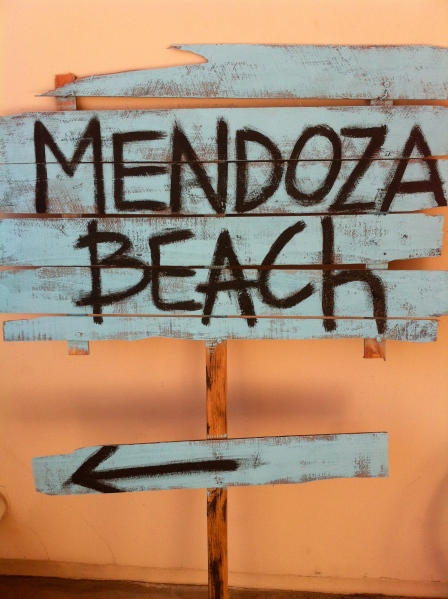 DIY wooden beach sign
